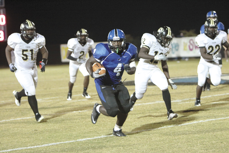 Michael Clements/The Demopolis Times -- DaMarcus James has missed much of the last two games due to injury. His return may be pivotal to the Tigers' return trip to the state finals.