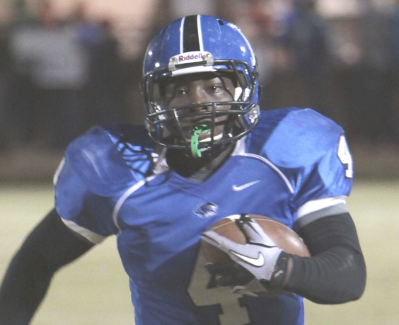Michael Clements/The Times -- DaMarcus James rushed for 227 yards and three touchdowns on 20 carries last week. He also threw a touchdown pass. Demopolis hosts Hueytown in the second round of the state playoffs Friday night.