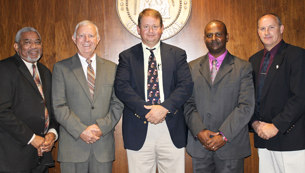 Shown are the Marengo County Commissioners Freddie Armstead, Dan England, John Crawford Jr., Calvin Martin and Michael Thompson.