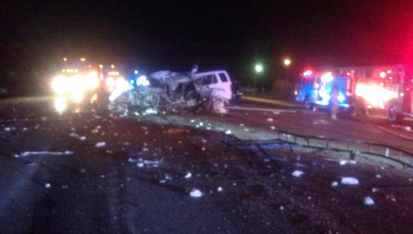 An 18-wheeler and a van collided early Thursday morning resulting in one fatality.