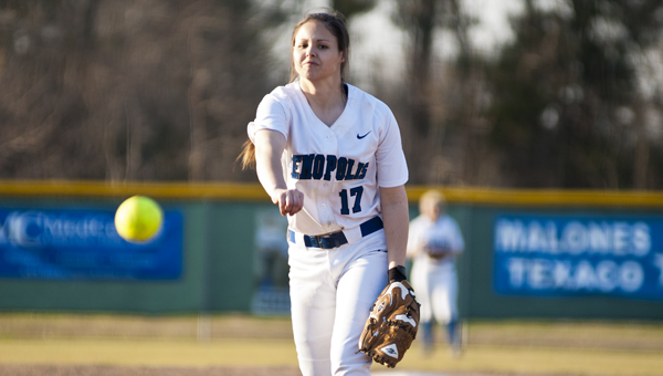 Demopolis senior Danielle Tatum came into the game in the fourth inning and struck out ten batters on her way to a win. The Lady Tigers won 8-7 in nine innings.
