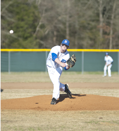 Wesley Anderson was credited with the win in the first game of Tuesday's double-header against Bibb County.