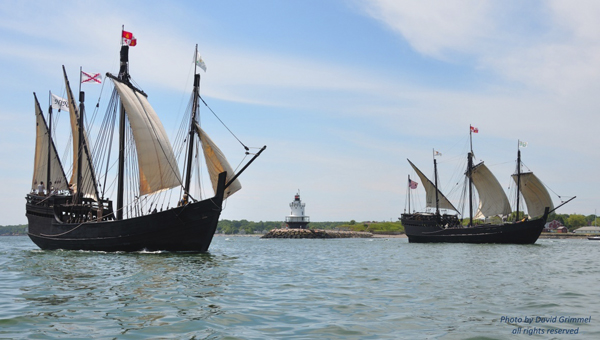 Replicas of the Nina and the Pinta will be in Demopolis from April 24-April 29 for people to board and tour.