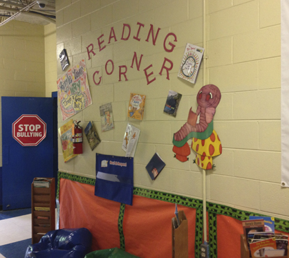 Every corner at John Essex High School is marked as a learning corner.