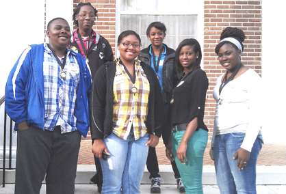 The members of LHS Team Blue were, front row, left to right, Chavon Jackson, Dyneesha Head, Cierra Jones and Adriauna Alston; and back row, left to right, Larry Lewis and Aiyana McCaskey.