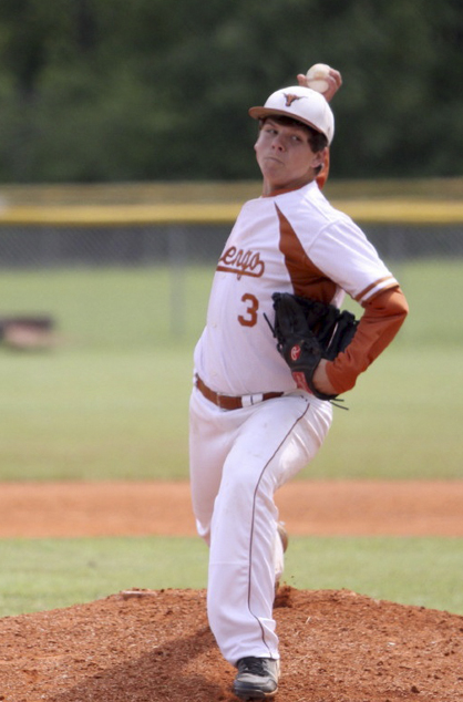 Brad Collins, an 8th grader, pitched a no hitter against Sparta Academy on Friday night in the first game of a double header.