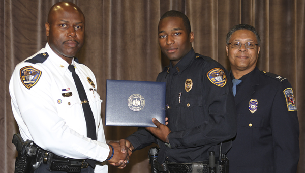 Chief Tommie Reese, Demopolis Police Department; Officer Dion Rainer Pritchett Jr.; and Col. Hugh B. McCall, Alabama Department of Public Safety.