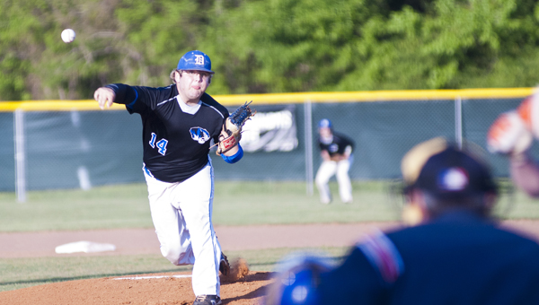 Will Tucker started Friday night's playoff game for the Tigers. Demopolis defeated Valley 9-8.