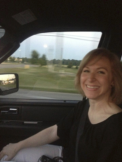Joni Craft participated in a ride-along with DPD officers during the CPA class Tuesday.
