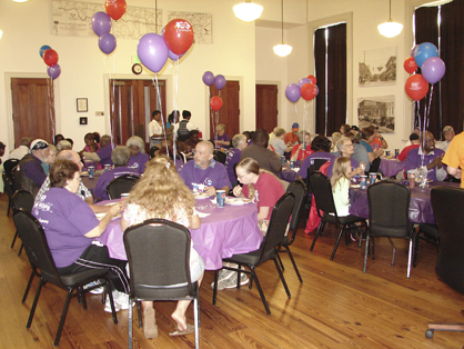 A special dinner for cancer survivors was held at Rooster Hall on Thursday evening prior to Relay For Life.