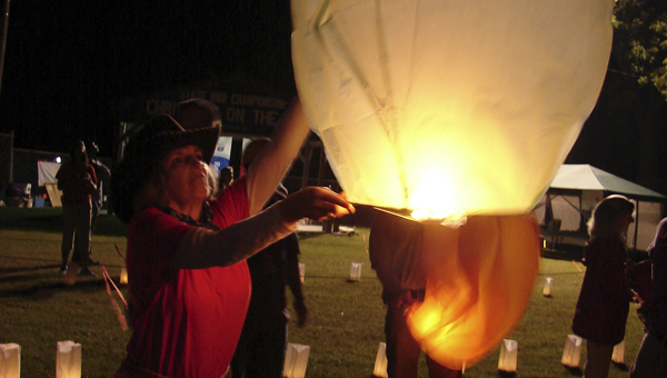 Sky lanterns were released in memory and honor of those who have battled cancer at Relay For Life.