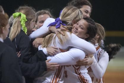 Marengo Academy celebrates their fourth straight state championship.