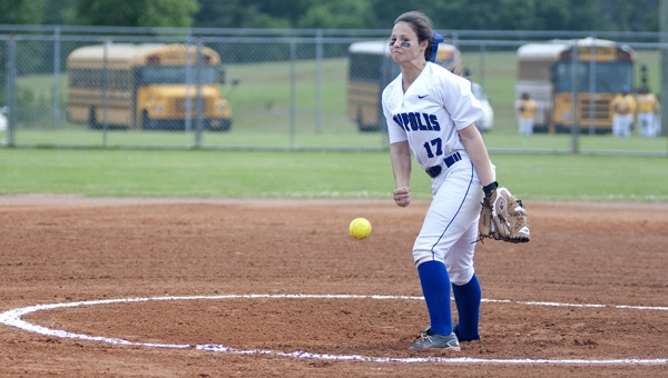 Danielle Tatum started the game for Demopolis against Marbury in the AHSAA Regional Tournament in Troy on Friday.