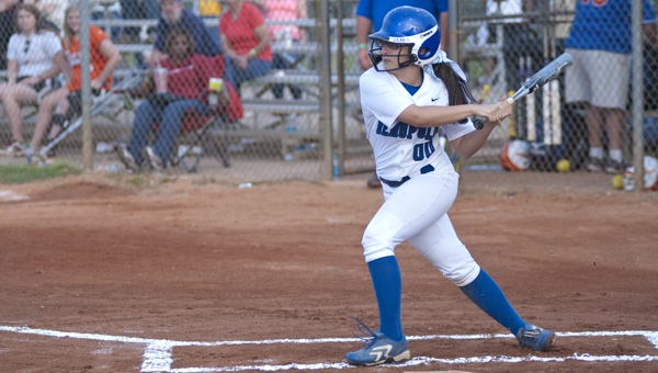 Victoria Washburn went 4-5 at the plate in Friday night's game against Chilton County to help keep the Lady Tigers' season alive.