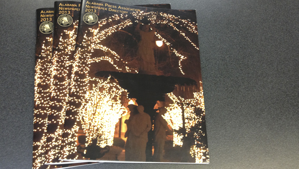 A photo from Christmas on the River was chosen to be on the cover of this year's Alabama Press Association newspaper directory.