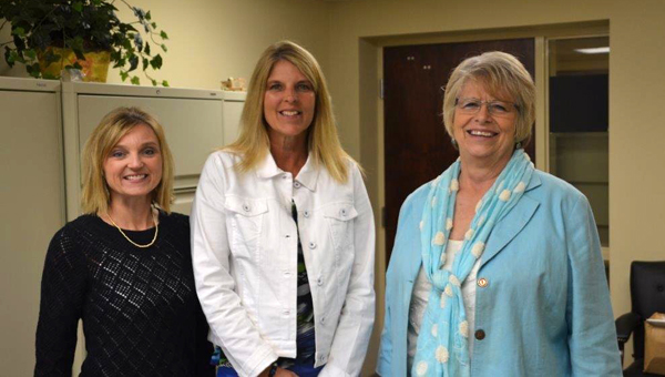 Kathryn Friday from Marengo County, Jennifer Miller from Choctaw County and Pam Stenz from Wilcox County conducted interactive broadband training at Sweet Water, Choctaw County and Wilcox County high schools.