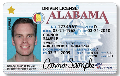 Shown is a sample license.