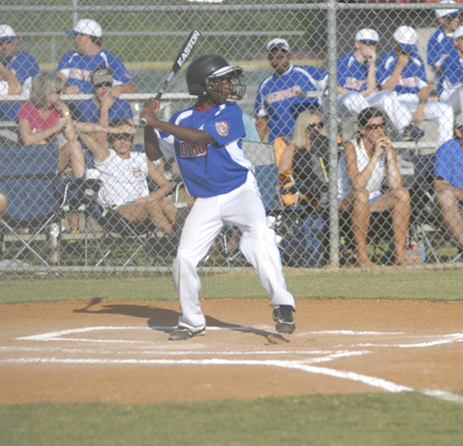 Tim Thurman bats for the Demopolis 10U All-Stars in their game Wednesday against Greensboro.