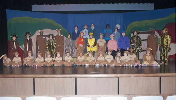 """Children in grades kindergarten through eighth participated in the Missoula Children's Theatre production of """"The Tortoise Versus the Hare"""" on Friday at the Demopolis High School Auditorium."""