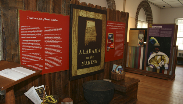 """""""Alabama in the Making"""" features five kiosks that offer a glimpse into the life and culture of Alabama's Gulf Coast, Wiregrass, Black Belt, Tennessee Valley, and Southern Appalachians regions."""