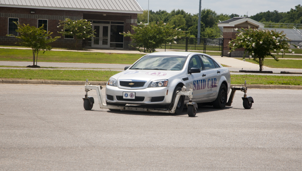 Members of the Demopolis Police Department and Demopolis Fire and Rescue participated in SkidCar Training on Thursday at Demopolis High School.