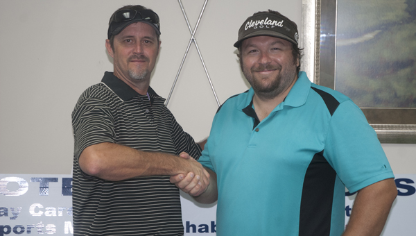 Troy Shannon and Heath Randall won the DHS football golf tournament with a score of 58.