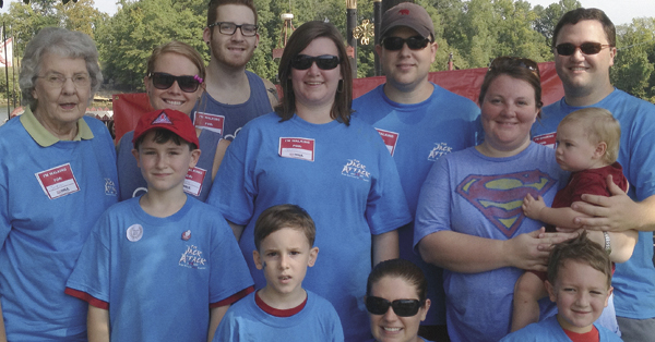 Shown are members of the 2012 Jack Attack team: Louise Reffett, grandmother; aunt and uncile, Jordan Reffett and Sarah Letson; the Hutton family, Scott, Ashley, Jackson and Chandler; and family friends, the Martins, Drew, Lisa, Jon Daniel and Mary Blanche.
