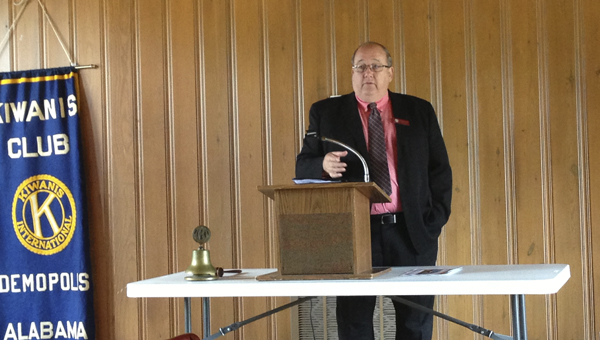 Dr. Steven Brown, campus dean of Mississippi State-Meridian, spoke to the Demopolis Kiwanis Club on Tuesday about the opportunities for Marengo County students at MSU-Meridian.