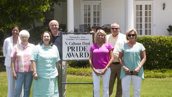 John and Nancy Northcutt's home at 301 North Walnut is July's John N. Calhoun Pride Award Winner.