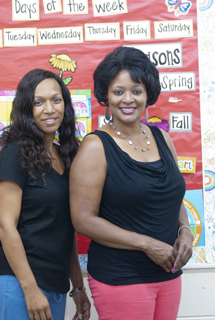 Bright Beginnings owner Donetta Wilkins and assistant director Loretta Moore received a grant for the daycare and learning center to add another pre-k class to the center.