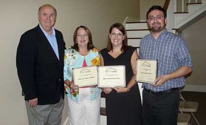 Partner-level members. From left, John and Nancy Northcutt; Amanda Barnes (John David); and Justin Averette with The Demopolis Times. Other partner members were Bill and Judilyn Horton; Marengo Insurance Agency; Bill and Catherine Meador; Frank and Lucette Osborne; and John and Mary Rutledge.
