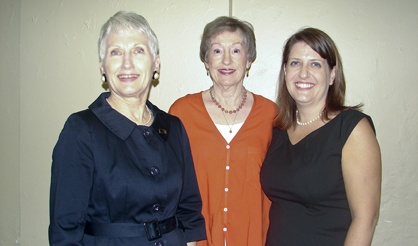 Shown are the three executive directors of the Demopolis City Schools Foundation since it's creation 20 years ago. First was Louise Webb Reynolds (center), then Jan McDonald (left) and current director Amanda Barnes.