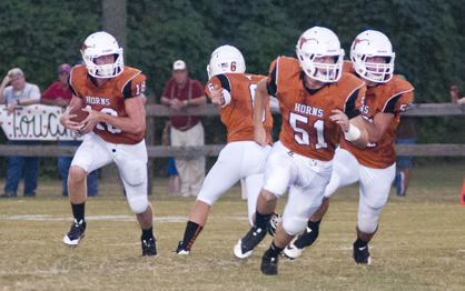 Hayden Huckabee (#18) was second on the team in rushing with 99 yards. He also caught the team's only catch for 38 yards.