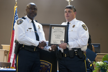 Lt. Rex Flowers received his promotion to Lieutenant on Sunday from DPD Chief Tommie Reese.