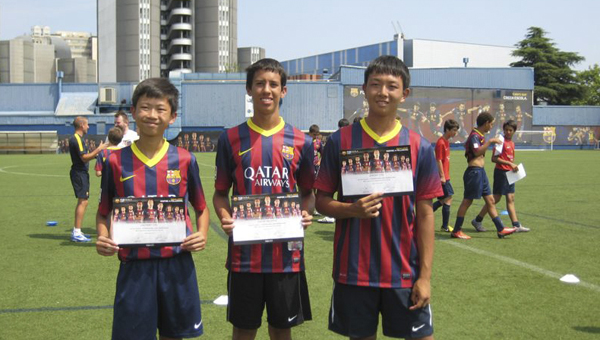 Demopolis students Zachary Chu, Oscar Valdivia and Jeremy Chu participated in the FCBEscola Camp on July 7-19 in Barcelona, Spain. The camp was for soccer players, ages 13-17, and they received soccer training from certified coaches.