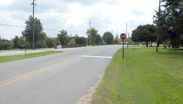 Demopolis Public Works placed a new stop sign on Lock Street at the intersection with Maria Avenue.