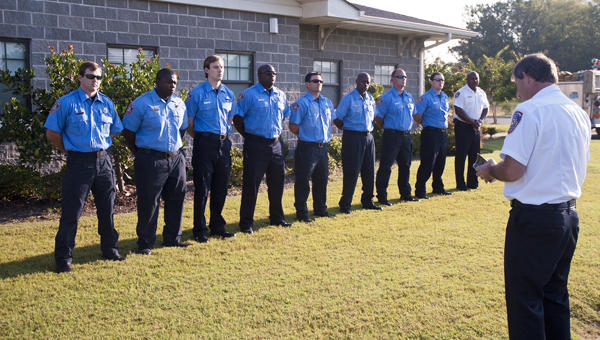 Members of Demopolis Fire and Rescue met outside Station 3 Wednesday morning to honor those lost during the Sept. 11, 2001, attacks in New York City and Washington, D.C, and the plane crash in Pennsylvania.