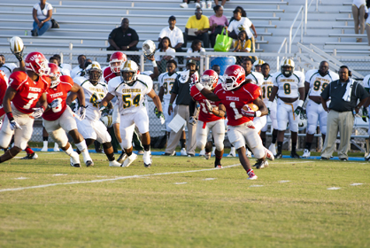 Markeyus Johnson looks for open space against Concordia.