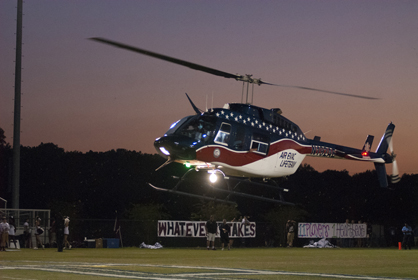 Air Evac delivers the game ball.