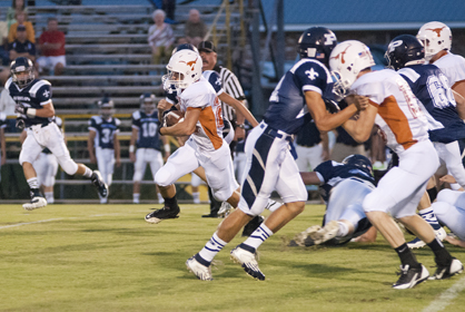 Josh Holifield found open space against Patrician Academy. He was the second leading rusher for Marengo with 78 yards.
