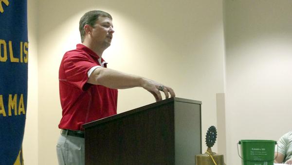 UWA head coach Will Hall spoke to the Demopolis Rotary Club on Wednesday.