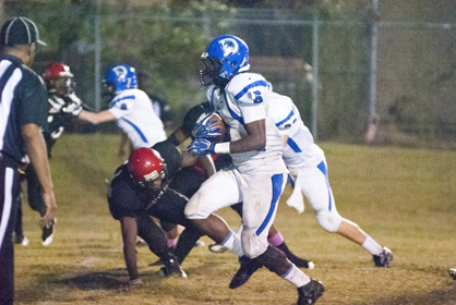 Roderick Davis looks for a hole against Sumter Central.