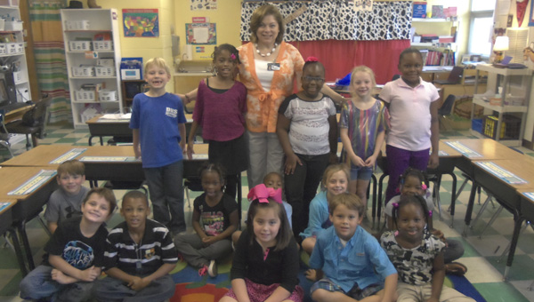 Nan Dollar's class at Westside Elementary had the most library card sign-ups in September.