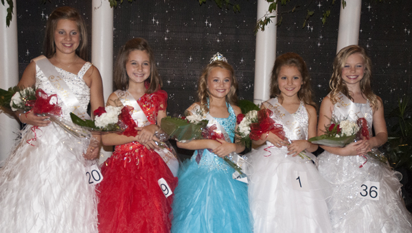 2013 Young Miss COTR Court: (from left) S