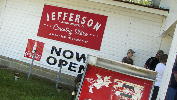 The renovated Jefferson Country Store held a ribbon cutting for its reopening Saturday. The store had been closed for a year.