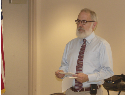 Jim Carnes, communications director for Alabama Arise Citizens' Policy Project, spoke at an Affordable Care Act workshop in Demopolis Tuesday morning.