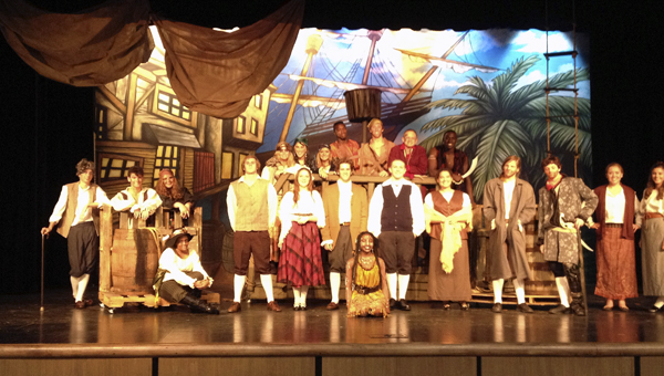 The Tiger Arts Guild will perform Treasure Island Friday, Nov. 1 through Sunday, Nov. 3. Shown are the cast and crew members.