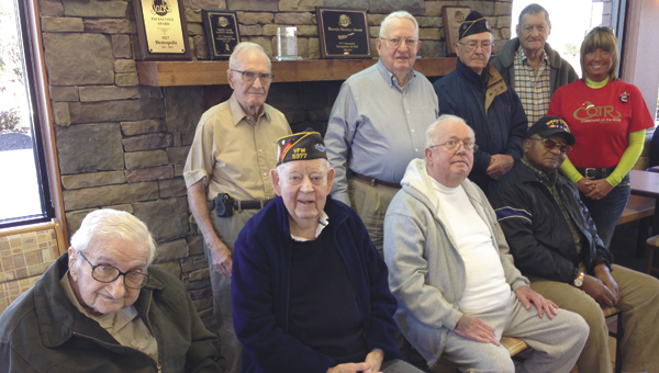 Eight of the nine veterans that will serve as grand marshals of the COTR day parade are shown. Not pictured is Arthur Lee Hitt.