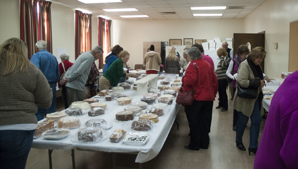 The bake room is a popular destination during the First United Methodist Church Women's Bazaar.