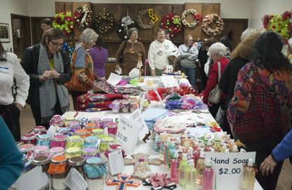The craft room drew a large crowd during Wednesday's Bazaar.